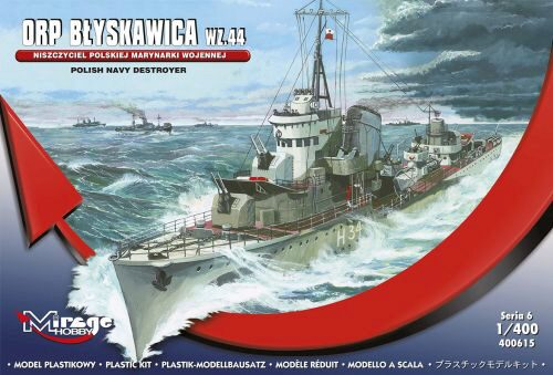 Mirage Hobby 400615 Polish Navy Destroyer ORP Blyskawica Wz.44