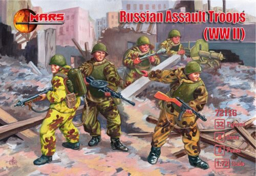 Mars Figures MS72116 WWII Russian Assault Troops