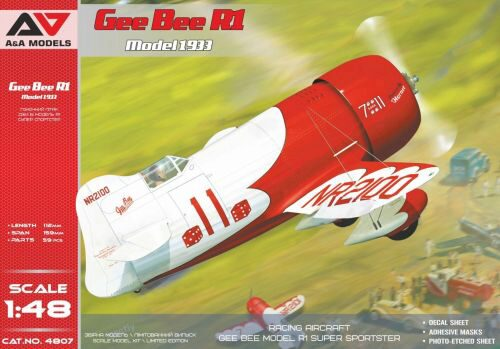 Modelsvit AAM4807 Gee Bee R1 ( 1933 version) racing aircraft