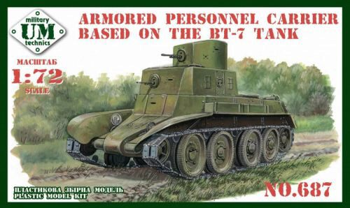 Unimodels UMT687 Armored personnel carrier based in the BT-7 tank
