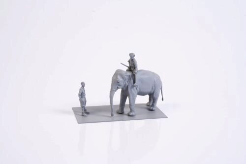 CMK 129-F72327 Mechanic of India WWII+Elephant with Mahout (2 fig.+elephant)