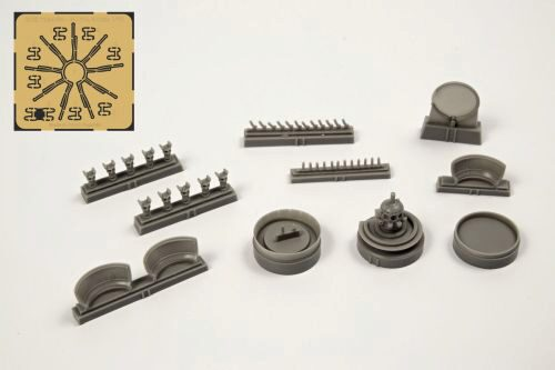 CMK 129-7385 B-17G EngineSet(starboard side engine1pc for Airfix kit
