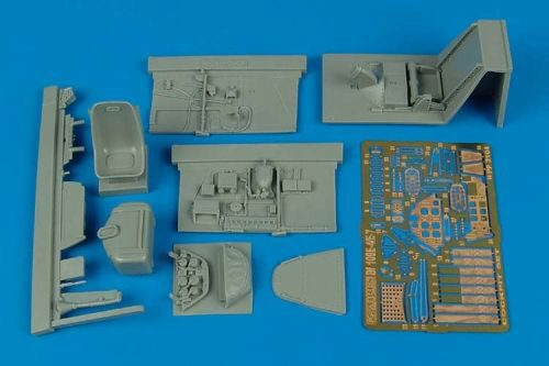 Aires 2104 Bf 109E-4/E-7 cockpit set for Eduard