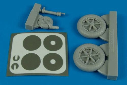 Aires 2138 Bf 109F wheels & masks for Trumpeter