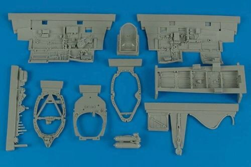 Aires 2148 Spitfire Mk.IX cockpit set for Tamiya
