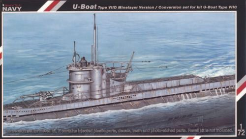 MPM SN72005 U-Boot VII D conversion set Für Revell Bausatz