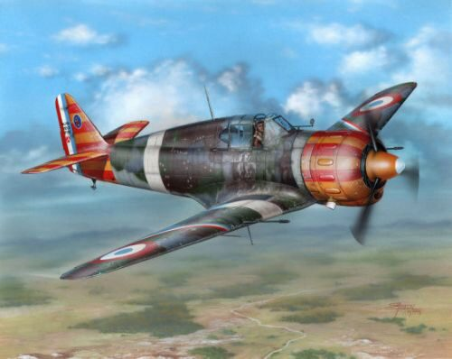 "Azur A094 Bloch MB 152C.1 ""Red&Yellow Stripes"""