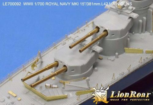 Lion Roar-GreatwallHobby LE700092 WWII HMS MK I 15''/381mm L42 metal Barrels for Hood/Renown Class/ R class