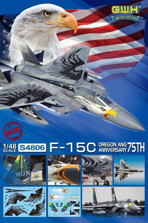Lion Roar-GreatwallHobby S4806 USAF F-15C OREGON ANG 75th Annversary Limited Edition