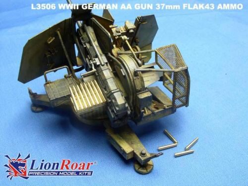 Lion Roar-GreatwallHobby L3506 Ammo & Cartridge case for 37mm Flak 43
