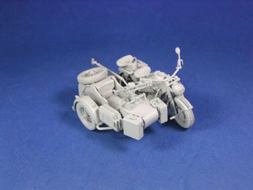 Lion Roar-GreatwallHobby L3508 WWII German Zündapp KS 750 with Sidecar /w trailers