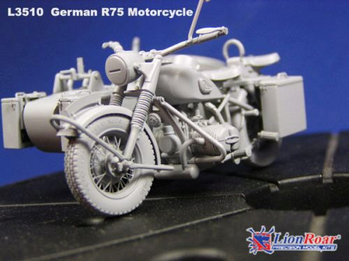 Lion Roar-GreatwallHobby L3510 WWII German BMW R75 with Sidecar /w trailers