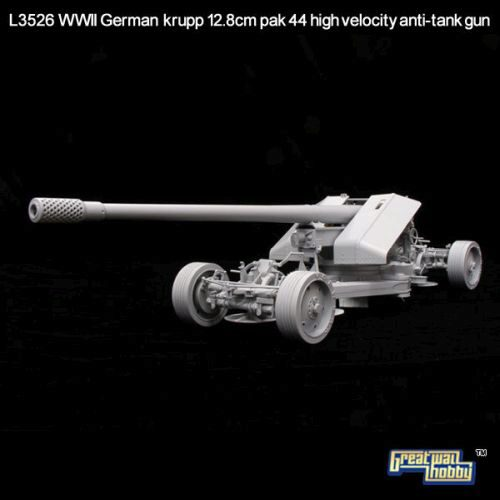 Lion Roar-GreatwallHobby L3526 WWII German Krupp 12,8cm Pak44 Anti-Tank