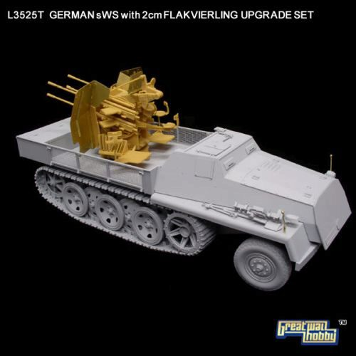 Lion Roar-GreatwallHobby L3526T WWII German KRUPP 12,8cm Pak 44 UPGR.SET