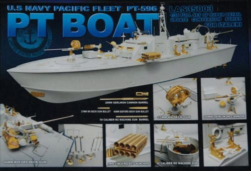Lion Roar-GreatwallHobby LAS35003 U.S.Navy PT-Boat PT-596  HOT Resumed