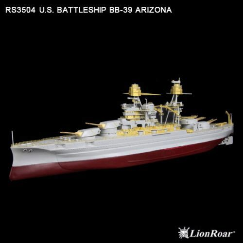 Lion Roar-GreatwallHobby RS3504 WWII US Navy Battleship BB-39 Ariz.(TRU)