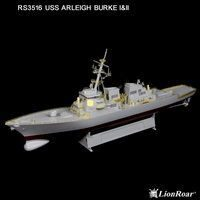 Lion Roar-GreatwallHobby RS3516 US Navy Destr. Arleigh Burke Class I&II