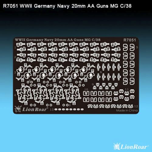 Lion Roar-GreatwallHobby R7051 WWII Ger.Navy20mm AA GunFlak35(4*MG C/38