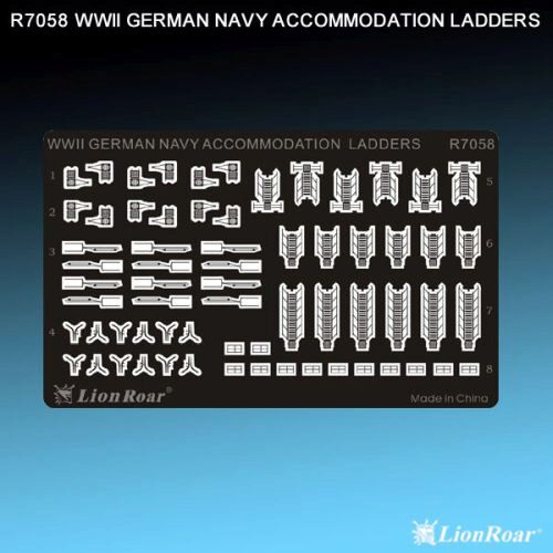 Lion Roar-GreatwallHobby R7058 WWII German Navy Accommodation Ladders