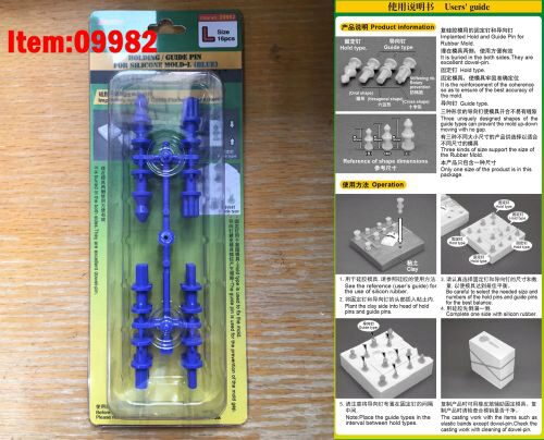 Master Tools 09982 Holding/Guide pin for silicone mould-L (Blue)