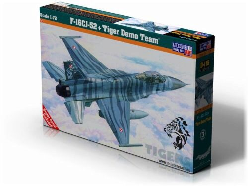 "Mistercraft D-115 F-16CJ-52+""Tiger Demo Team "" NEW"
