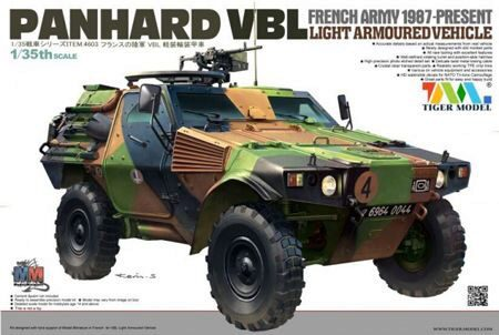 Tiger Model 4603 French PANHARD VBL Light Armoured Vehicl