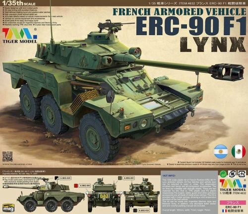 Tiger Model 4632 French Armored Vehicle ERC-90F1 Lynx