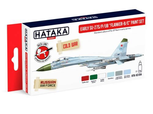 Hataka AS104 Airbrush Farbset (6 pcs) Early Su-27S/P/UB Flanker-B/C paint set