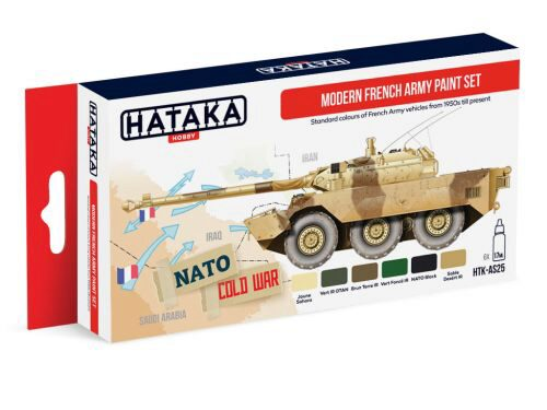Hataka AS25 Airbrush Farbset (6 pcs) Modern French Army paint set