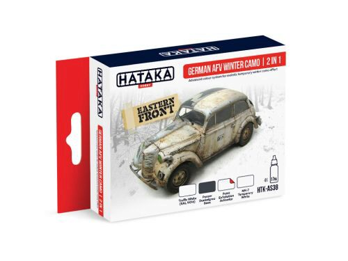 Hataka AS38 Airbrush Farbset (4 pcs) German AFV Winter Camo  2 in 1