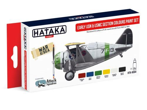 Hataka AS54 Airbrush Farbset (6 pcs) Early USN & USMC Section Colours paint set