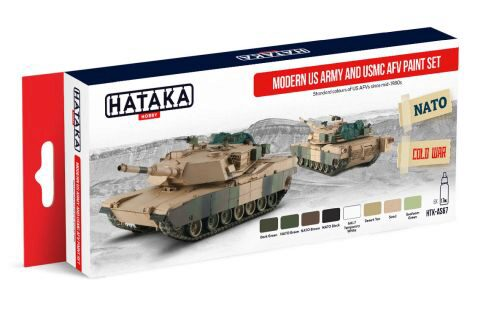 Hataka AS67 Airbrush Farbset (8 pcs) Modern US Army and USMC AFV Paint Set