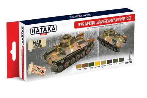 Hataka AS69 Airbrush Farbset (8 pcs) WW2 Imperial Japanese Army AFV Paint Set