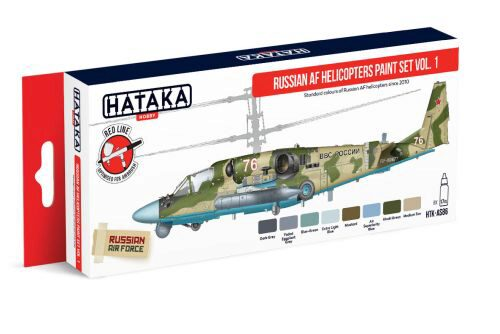 Hataka AS86 Airbrush Farbset (8 pcs) Russian AF Helicopters paint set vol. 1