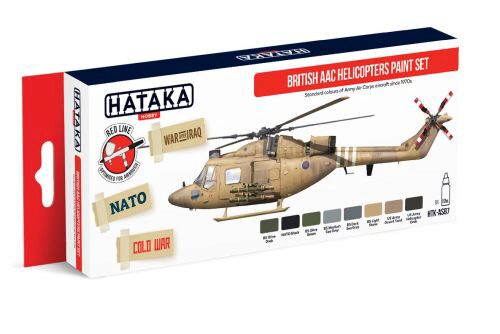 Hataka AS87 Airbrush Farbset (8 pcs) British AAC Helicopters paint set