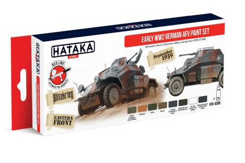 Hataka AS88 Airbrush Farbset (8 pcs) Early WW2 German AFV paint set
