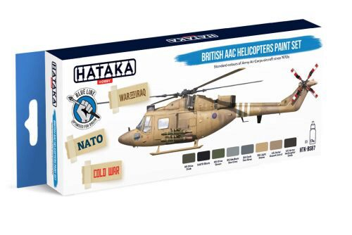 Hataka BS87 Enamel Farbset Set (8 pcs) British AAC Helicopters paint set