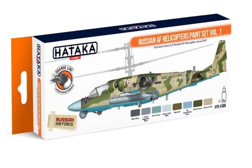 Hataka CS86 Acryl Farbset 8 pcs) Russian AF Helicopters paint set vol. 1