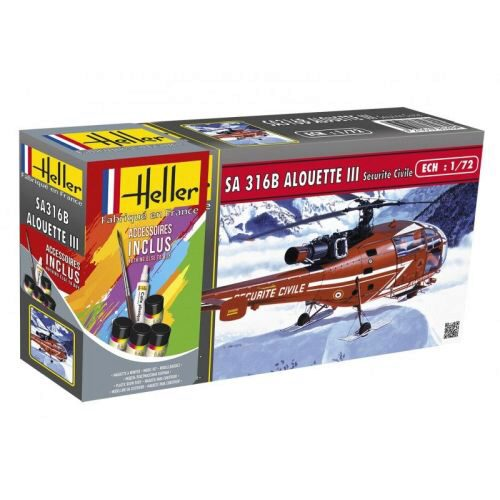 Heller 56289 Allouette III Securite Civile