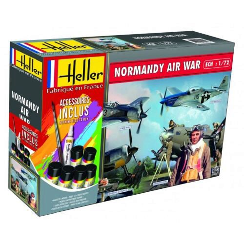 Heller 53014 NORMANDIE AIR War(Mustang, Focke Wulf, 2 sets de figurines)