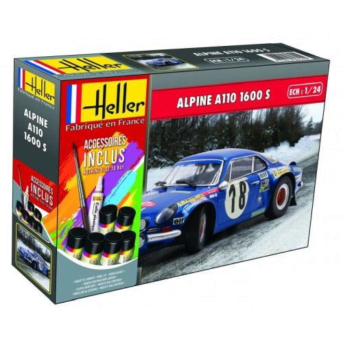 Heller 56745 Alpine A110(1600) Kit Ref. (including paints,brush and glue)