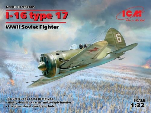 ICM 32005 I-16 type 17, WWII Soviet Fighter