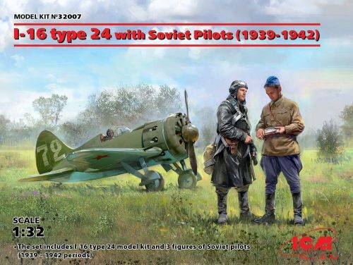 ICM 32007 I-16 type 24 with Soviet Pilots(1939-42) Limited