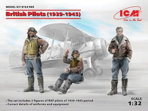 ICM 32105 British Pilots (1939-1945)(3 figures)