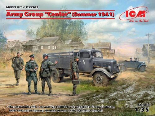 ICM DS3502 Army GroupCenter(Summer 1941)(Kfz1,Typ L3000S,German Infantry(4 figures)Ger.Drivers