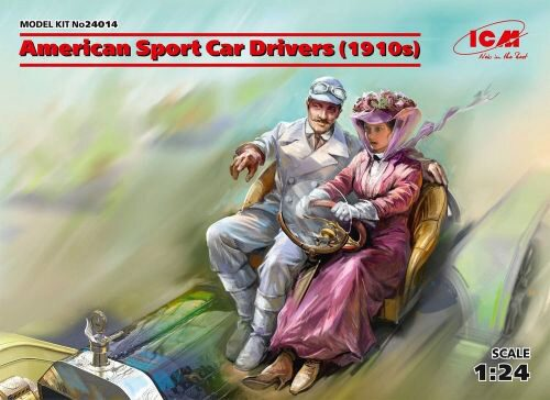 ICM 24014 American Sport Car Drivers(1910s)(1 male 1 female figures)
