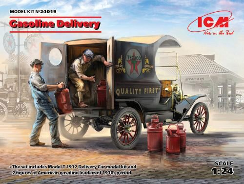 ICM 24019 Gasoline Delivery, Model T 1912 Delivery Car w.American Gasoline Loaders,Limited