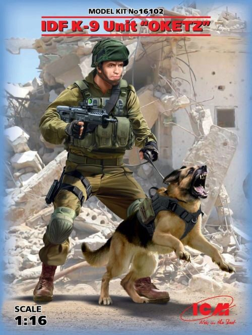 ICM 16102 K-9,Israeli Police Team Officer with dog
