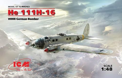 ICM 48263 He 111H-16, WWII German Bomber
