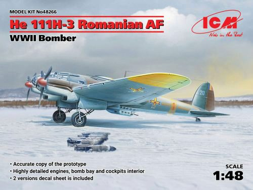 ICM 48266 He 111H-3 Romanian AF, WWII Bomber